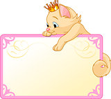 Cat Princess Invite or Placard