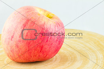 Apple on the wood block