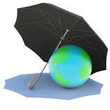 Umbrella covers the planet