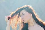 Sun in her hair