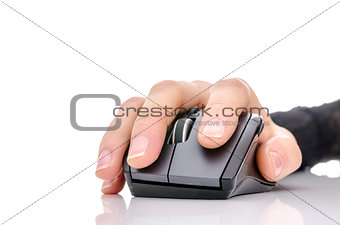 hand using a computer mouse