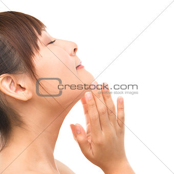 Asian skincare woman