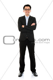 Asian business man full body