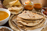 Chapati and roti canai