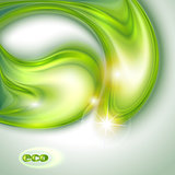 Abstract green background with water drops