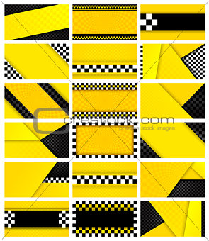 Business card taxi, 18 backgrounds