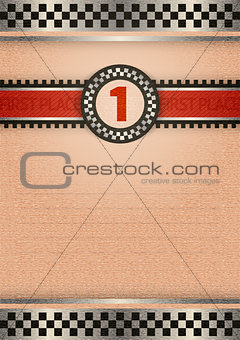 Certificate of award, retro color