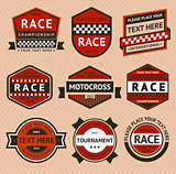 Racing badges set - vintage style