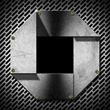 Hexagonal Grunge Metal Porthole