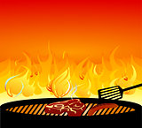 barbecue grill fire