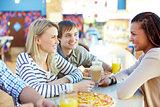 Talking in bar