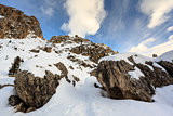 Rocky Mountains on the Skiing Resort of Colfosco, Alta Badia, Do