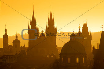 prague - spires of the old town