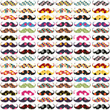 Mustache pattern with polka dots