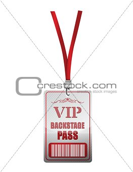 Backstage pass vip illustration design