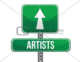 artist road sign illustration design