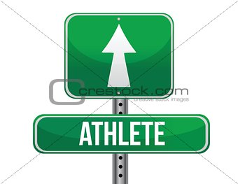 athlete road sign illustration design
