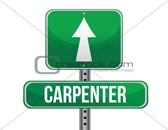 carpenter road sign illustration design