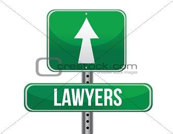 lawyers road sign illustration design
