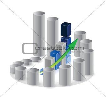 business unique circular graph illustration design