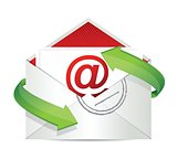 E-mail concept illustration design