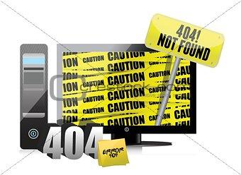 404 error display on a computer.