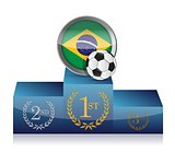 brazil soccer winner's podium illustration design