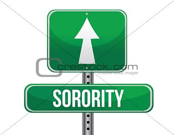 sorority road sign illustration design