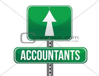 accountants road sign illustration design