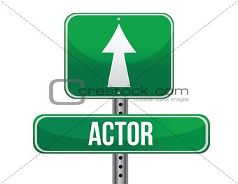 actor road sign illustration design
