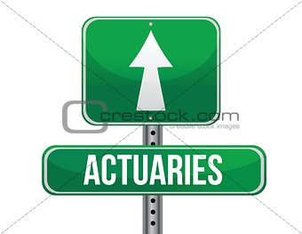 actuaries road sign illustration