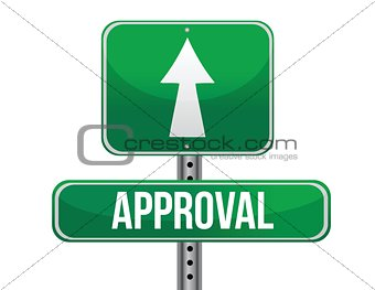 approval road sign illustration design