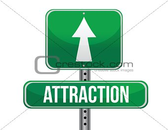 attraction road sign illustration design