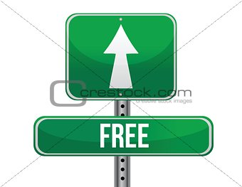 free road sign illustration design