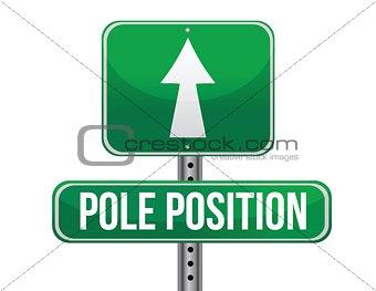 pole position road sign illustration design