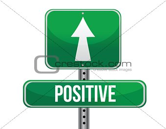 positive road sign illustration design