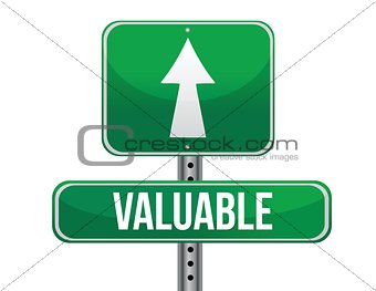 valuable road sign illustration design