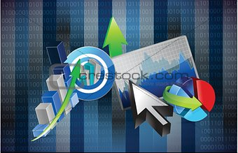 business graph steps design illustration