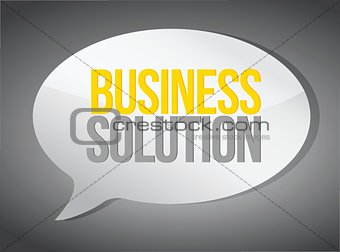business solutions message illustration design