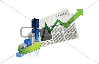 business success news illustration design