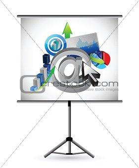 business and web presentation illustration design