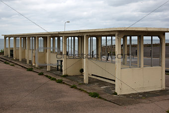Old sea front shelter in Margate, Kent