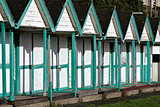 Beach huts needing attention