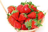 Ripe Red Strawberries in basket