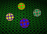 Spheres Over 3D Green Surface