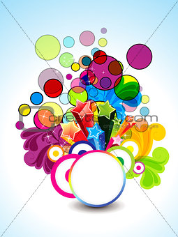 abstract colorful background with floral