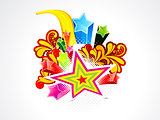 abstract colorful explode star background