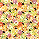Seamless Pizza Pattern