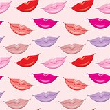 Seamless Lips Pattern