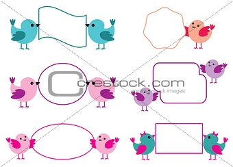 Little Birds Hold Paper Forms